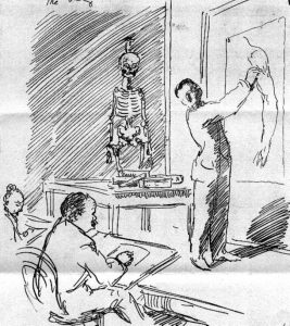 william orpen teaching the body anatomical drawings sir